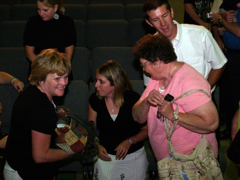 Susan Bailey and friends after 2008 concert